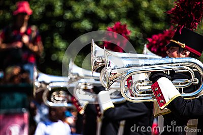 Brass band parade Editorial Image