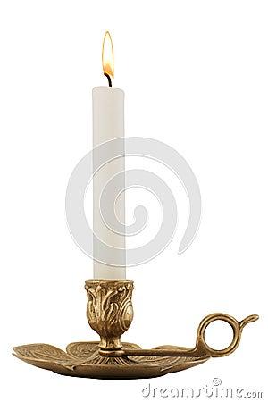 Free Brass Candleholder Royalty Free Stock Image - 2163596