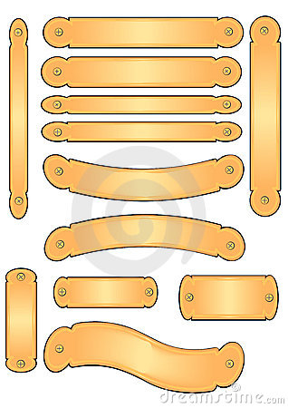Brass Engraving Banner Plates