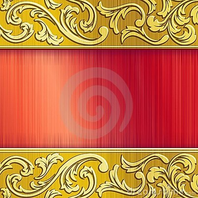 Brass horizontal banner in red with transparencies