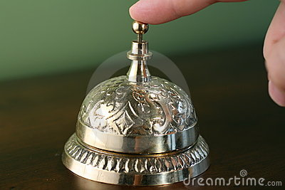 Brass Hotel Bell Royalty Free Stock Images - Image: 3763679