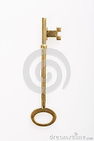 Brass key.