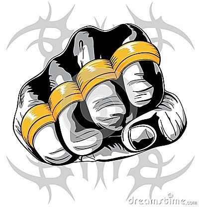 Brass knuckle fist