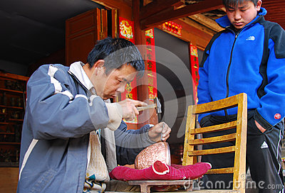 Brass making in China Editorial Image