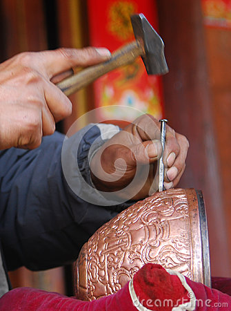 Brass making in China Editorial Photography