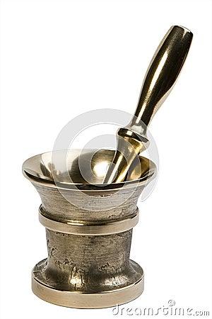 Brass mortar & pestle set