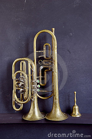 Brass musical instruments and bell