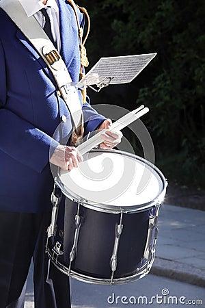 Brass musicians, detail