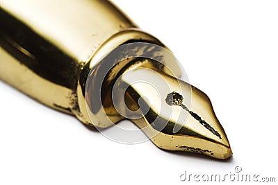 Brass pen paperweight