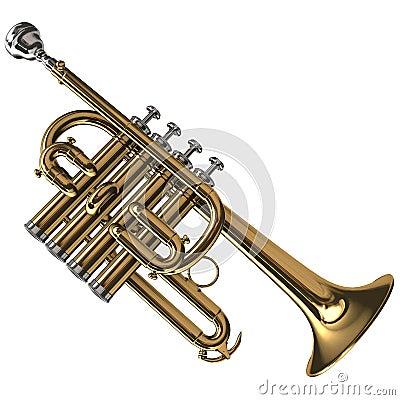 Brass Piccolo Trumpet