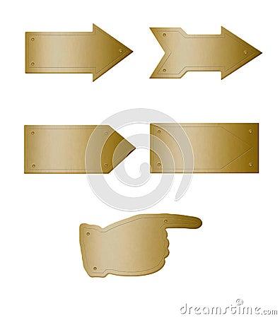 Brass plate arrows