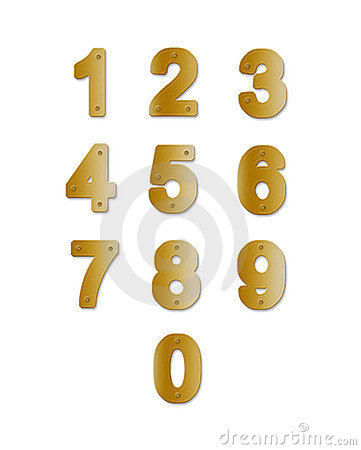Brass plate Numbers