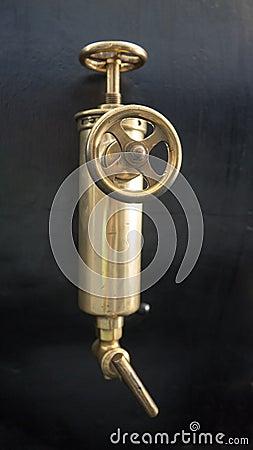 Free Brass Valve Of Old Steam Engine Stock Photos - 61116363