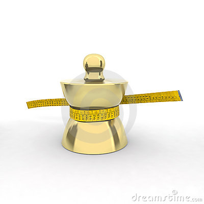 Free Brass Weight With Tape Meter Stock Photos - 20954323