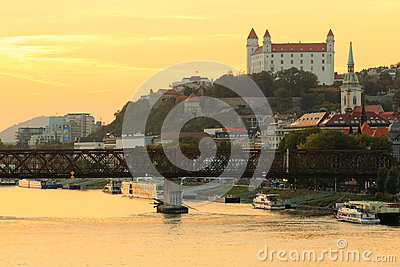 Bratislava castle Editorial Stock Image