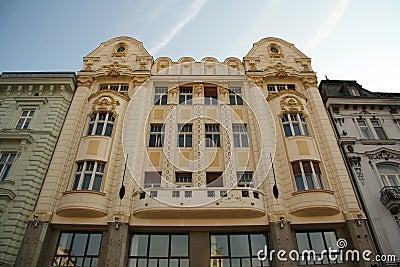 Bratislava Main Squares facade (Slovakia) Editorial Photography