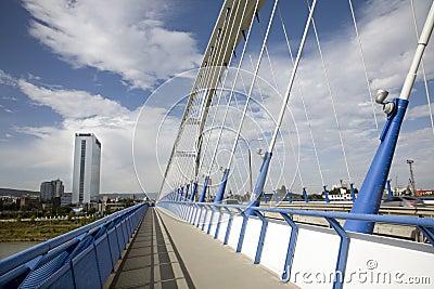 Bratislava - modern Apollo bridge