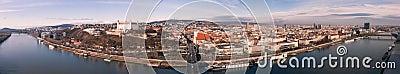 Bratislava Panorama Editorial Photography