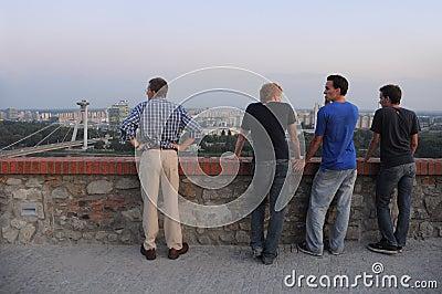 Bratislava sightseeing Editorial Stock Image