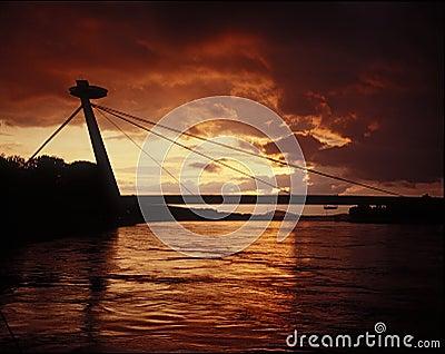 Bratislava silouette