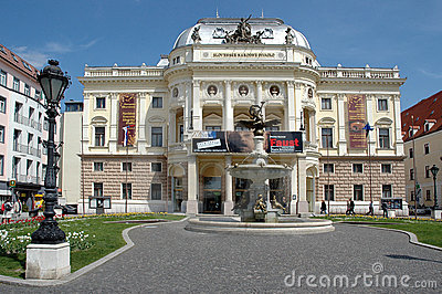 Bratislava - slovak national theater Editorial Photo