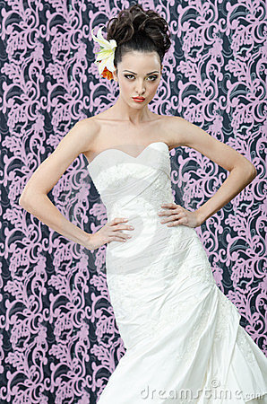Braut Brunetteportrait