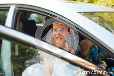 Braut, die nach Hause verlässt