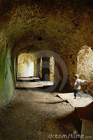 Brave Boy in Castle Tunnel