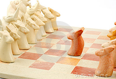 Brave chess pawn