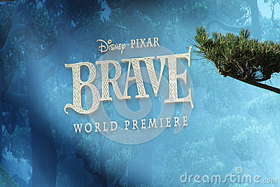 Brave movie billboard Editorial Stock Photo