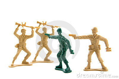Bravery Concept - Plastic Soldiers