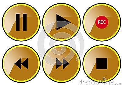 Braun buttons