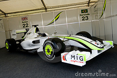 Brawn gp f1 racing car Editorial Stock Image
