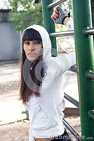 Brawny sport girl