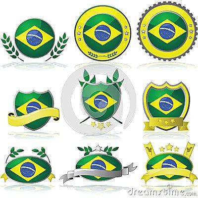 Brazil badges