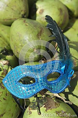 Brazil Carival Mask Green Coconuts