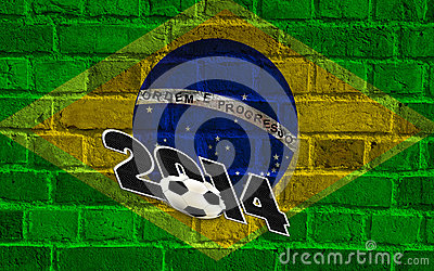 Brazil flag, soccer 2014 Editorial Image