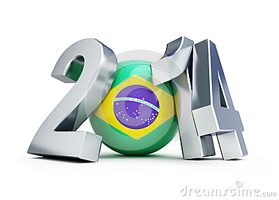 Brazil football 2014 Editorial Stock Image