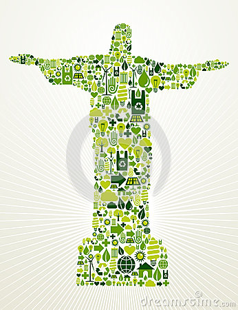 Free Brazil Go Green Concept Illustration Royalty Free Stock Photo - 25551065