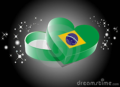 Brazil Heart Shape Gift Box