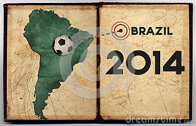 Brazil map 2014 world cup Editorial Stock Photo
