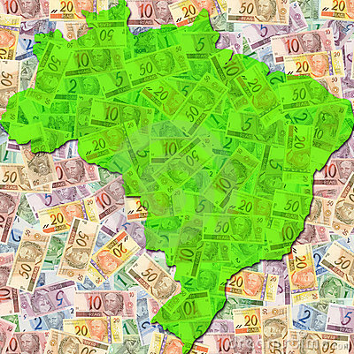 Free Brazil Money Map Stock Photos - 13081793