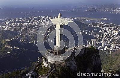 Brazil odkupiciel Christ De Janeiro Rio Fotografia Editorial