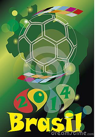 Free Brazil Soccer 2014 Royalty Free Stock Photo - 40432935
