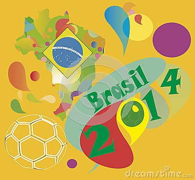 Free Brazil Soccer 2014 Royalty Free Stock Photography - 40432967