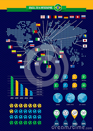 Infographic Ideas infographic soccer : Soccer Infographic Stock Vector - Image: 51444323