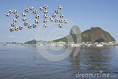 Brazil 2014 Soccer Message Sugarloaf Rio de Janeiro