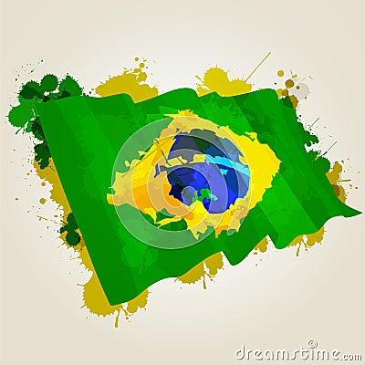 Brazil splatter flag