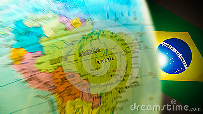 Brazil Olympic Map Globe Background