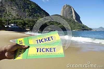 Brazil Tickets at Red Beach Sugarloaf Rio de Janeiro